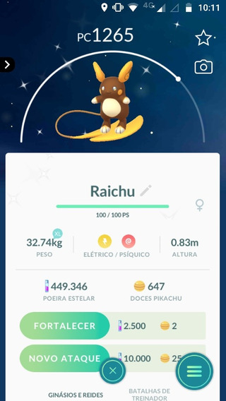 Raichu Alola Shiny Pokemon Go