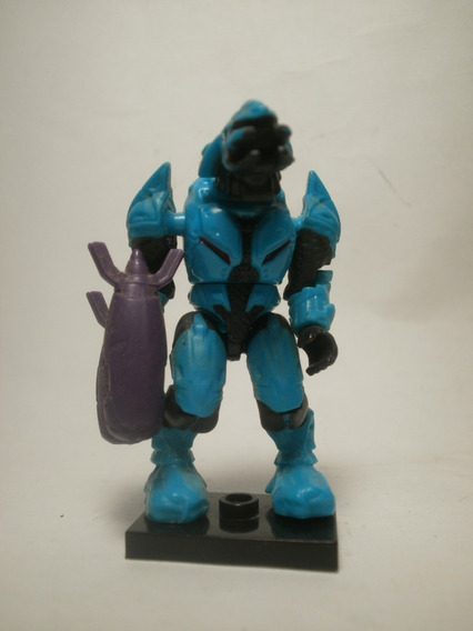 Mega Bloks Halo Covenant Elite Cyan Azul