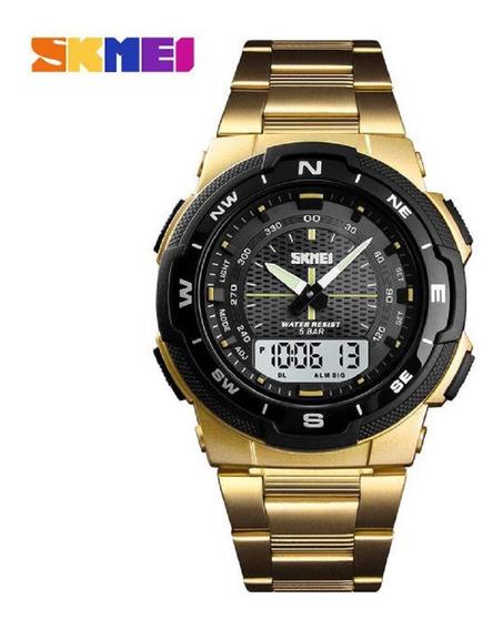 Relógio Esportivo Skmei 1370 Ana Digi Calend. Completo 50mt