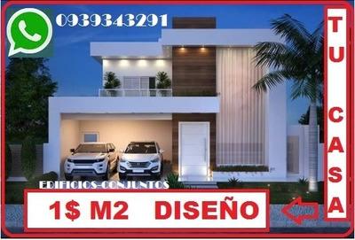 Planos Arquitectónico $ 1 Dolar M2 ,tu Casa O Proyecto.