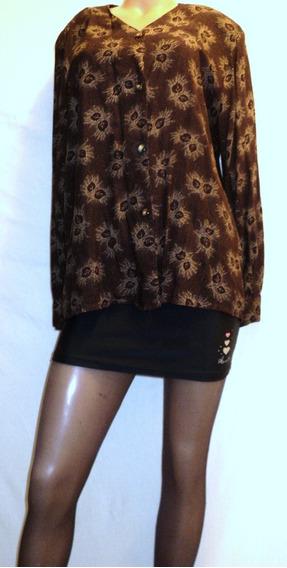 Camisa Mujer Vestir Etam Vintage Talla 3 Muy Buena