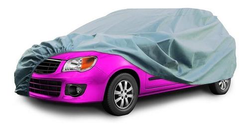Funda Cubre Auto Plateado Polyester Talle Xl