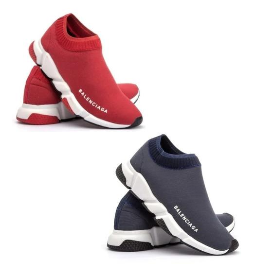 Kit Imperdivel 2 Tenis Balenciaga Speed Sock Promoção