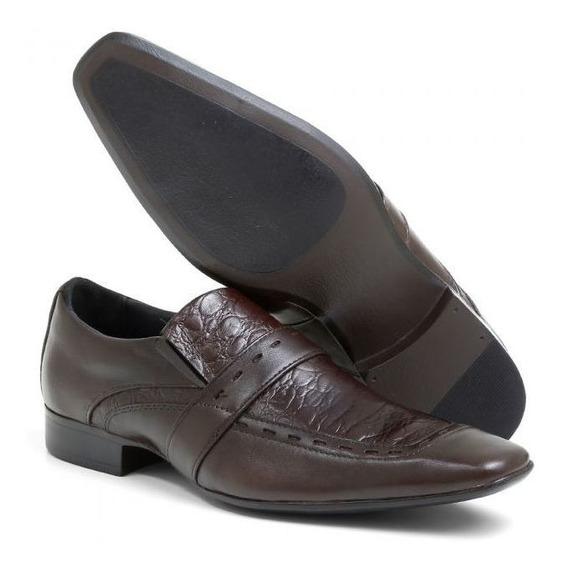 Sapato Social Masculino Couro Chocolate 80004b