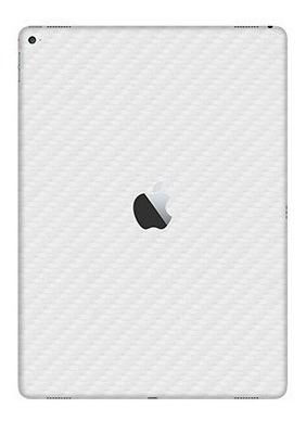 Capa Skin Adesiva Fibra Carbono Traseira Branco New iPad 9.7