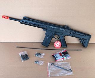 Airsoft Rifle Ics Cxp 231r Black Full Metal Bolt Recoil Aeg