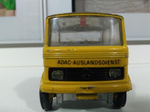 Miniatura Siku Caminhão Mercedes 608 Plataforma Guincho Adac