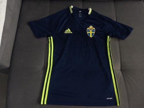 Camisa Oficial Da adidas Da Seleção Da Suécia Treino Adizero