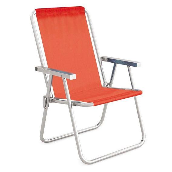 Cadeira Alta Conforto Mor, Alumínio, Coral - 2161