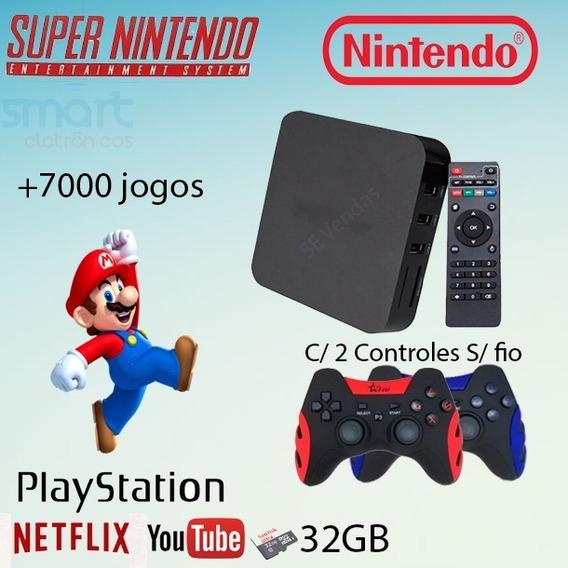 Super Game Box Video Game Retro Multijogos 7000 Jogos S/fio