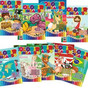 Lote Com 100 Revistas Infantil De Colorir E Atividades.