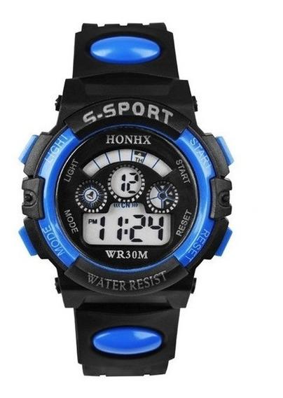 Relógio Esporte Luminoso Eletrônico Impermeável Para Jovens
