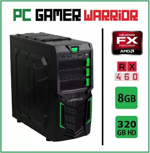 Pc Gamer Warrior Amd Fx6300 8gb Rx460 Ssd 250gb