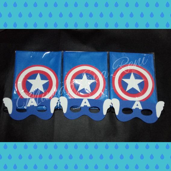 Capa Más Antifaz Capitán América Superhéroe Avengers