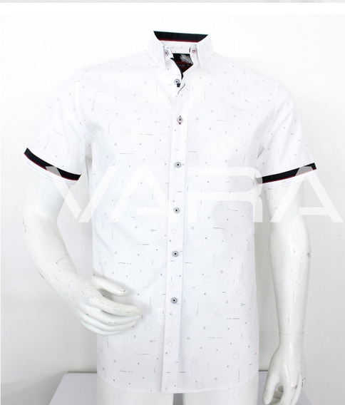 Camisa Hombre Manga Corta Varanasi 3014 Moda Casual