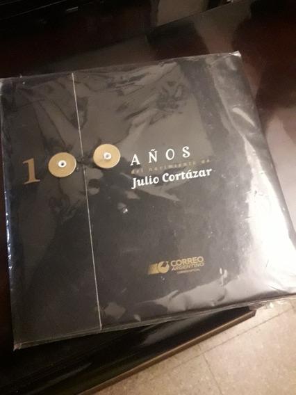 Filatelia Set De Estampillas 100 Años Julio Cortazar (2014)