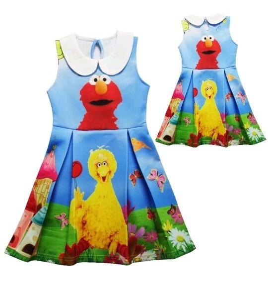 Vestido De Niña, Elmo Plaza Sesamo 5 Años