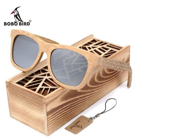 Óculos De Sol De Madeira Artesanal Bobo Bird Dg06
