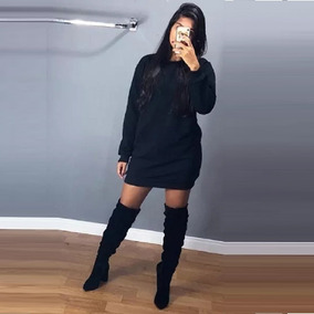 Kit 2 Vestido Feminino Moletom Blusa De Frio Casaco Felpado