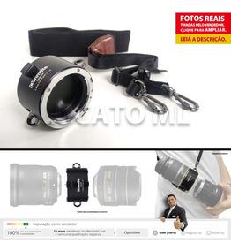 Suporte Porta Lentes 2x1 Com Alça Tiracolo Para Lente Nikon