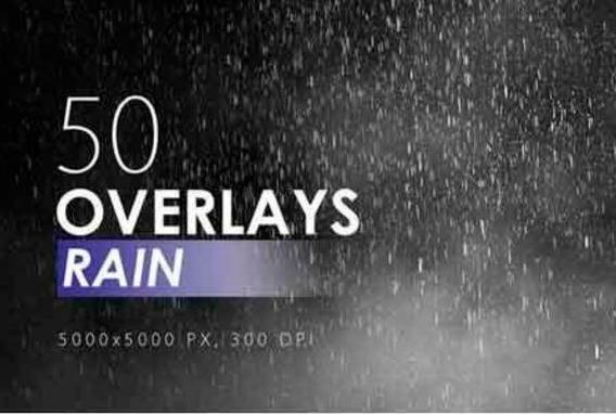 50 Overlays De Chuva (rain) Para Photoshop/50 Rain