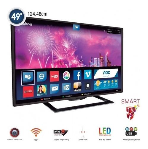 Televisor Aoc De  49  Full Hd, Smart Tv - Nuevo