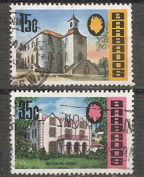 Barbados Colonia Britanica Edificios Yvert 313- 315 Año 1970