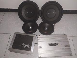 Sonido Para Carro Bajos Medios Planta Kit