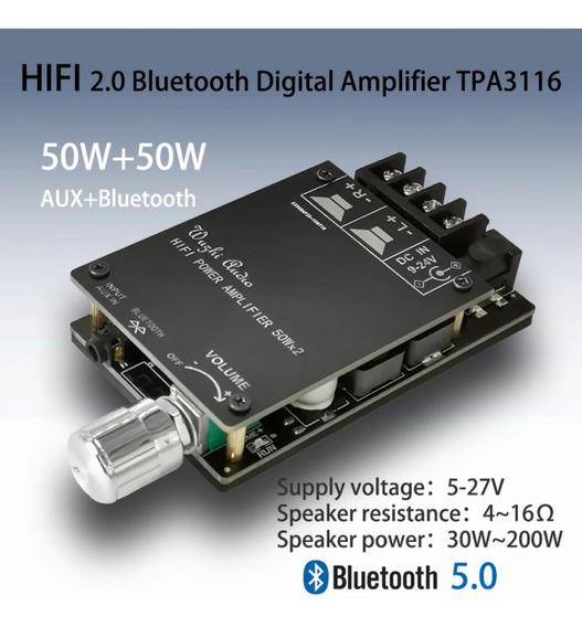 Mini Amplificador Digital Bluetooth/auxiliar Hifi 100watts
