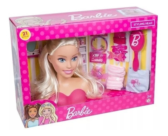 Boneca Barbie Busto - Pupee - Para Pentear - Veja O Video