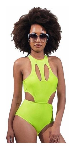 Traje De Baño Bikini Amarillo Neon Sexy Push Up Playa 41236