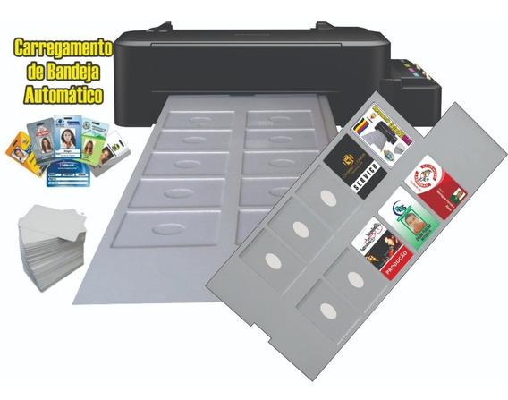 Impressora De Cartão Pvc Crachá Inkjet Epson Bandeja Com 10