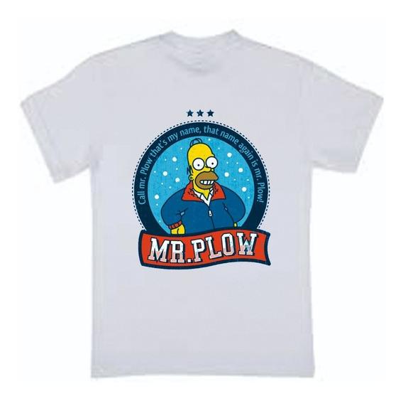 Remera Homero Simpson - Homero Don Barredora - Mr Plow