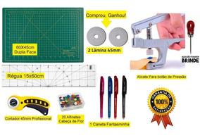 Kit Base De Corte 60x45 +régua 15x60 + Alicate Prega Botões