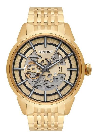 Relógio Orient Automático Clássico Nh7gp001 Dourado