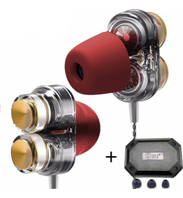 Shure Se215 = Fone In Ear Qkz Kd7 Dual Driv Retorno De Palco