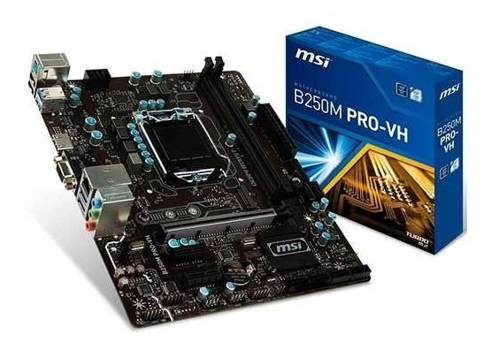 Placa Mae Msi B250m Pro-vh Ddr4 Socket Lga1151 Intel B250
