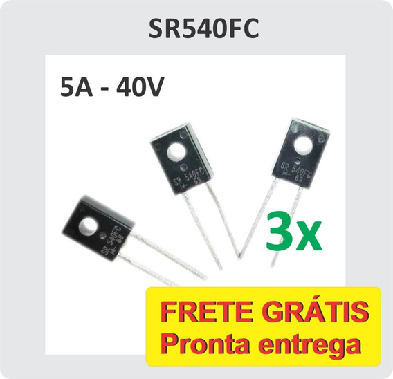 6x Diodo Sr540fc Sr540 5a 40v Schottky