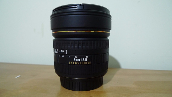 Lente Sigma 8mm F3.5 Ex Dg Fisheye