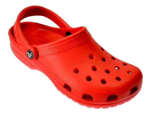 Crocs Originales Classic Sueco Ojota Sandalia Rojo