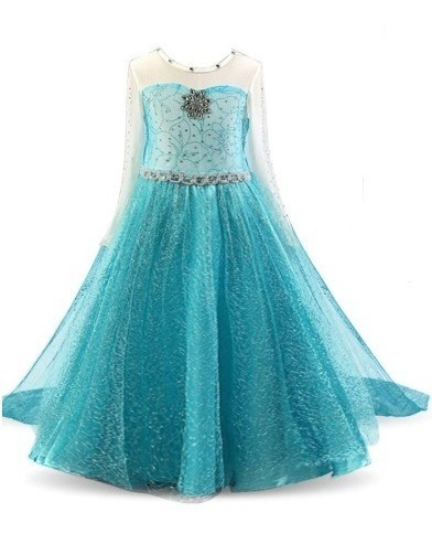 Vestido Infantil Festa Casamento Frozen Elsa Luxo