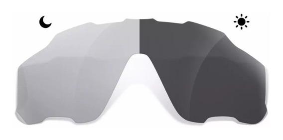 Lente Fotocromática De Reposição Oculos Oakley Jawbreaker Transparente Fumê Muda De Cor Profissional Bike Ciclismo Pedal