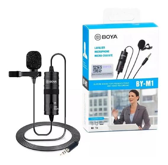Microfone Lapela Original Boya Bym1 Cameras E Smartphones