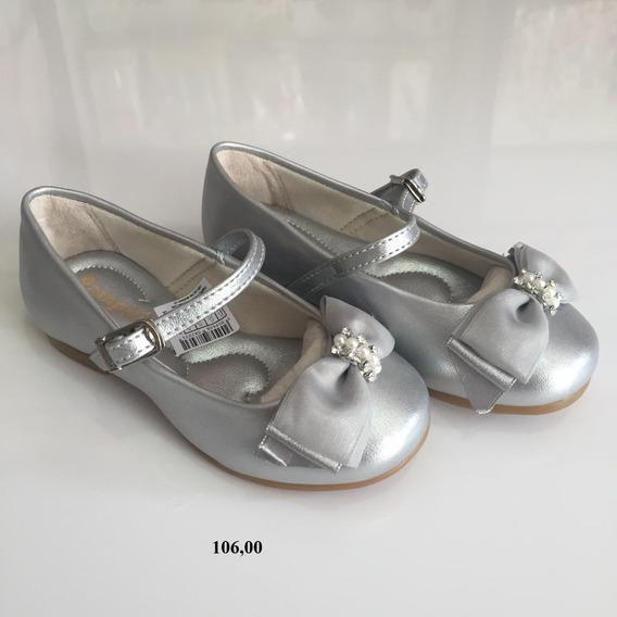 Sapato Infantil Prata Feminino Pampili