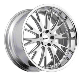 Rin 19x8 5-100 Tsw Mod: Monaco Et35 Cb72.1 Silver Brushed Fa