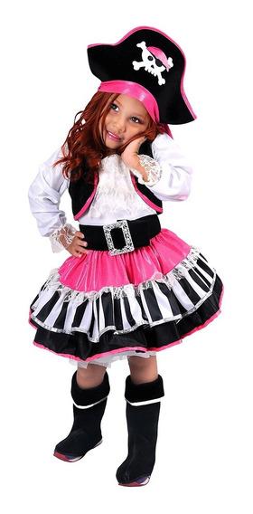 Disfraz De Pirata Deluxe Niña Carnavalito -d569