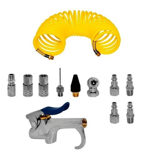 Kit Accesorios Compresor Aire 1/4 C/manguera Wf0148 Wolfox