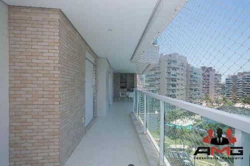 Apartamento Com 3 Dormitórios À Venda, 106 M² Por R$ 1.950.000,00 - Riviera - Módulo 8 - Bertioga/sp - Ap2244