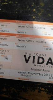 Entradas Para Luis Fonsi Movistar Arena 08/10/19