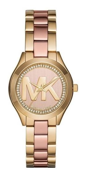 Reloj Michael Kors Mk3650 Mini Slim Runway Rose-gold Watch